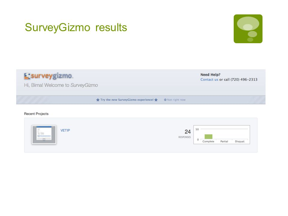 SurveyGizmo results