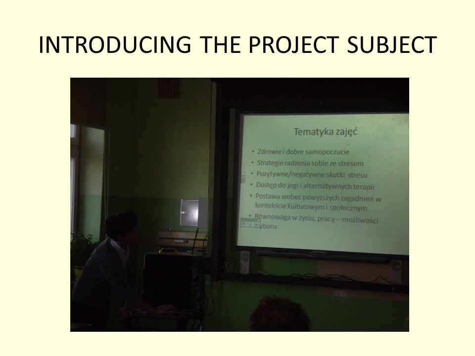 INTRODUCING THE PROJECT SUBJECT