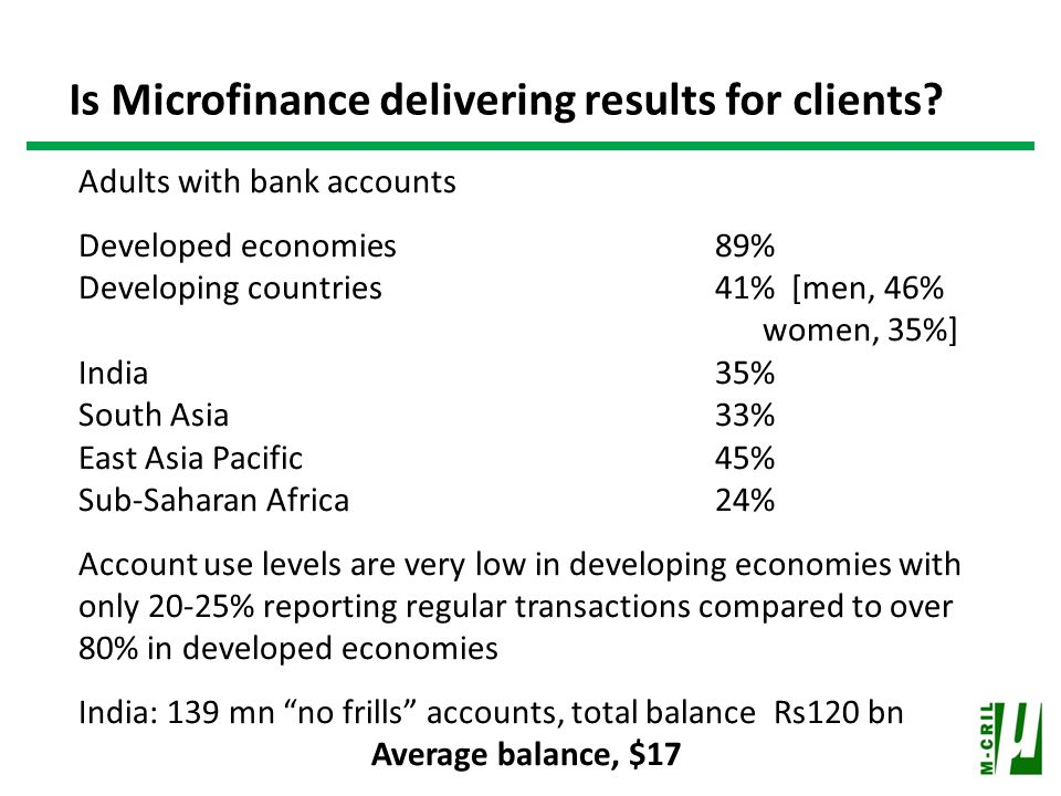 Is Microfinance delivering results for clients.