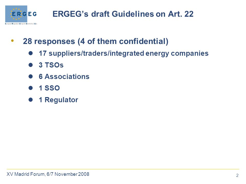 2 ERGEG's draft Guidelines on Art.