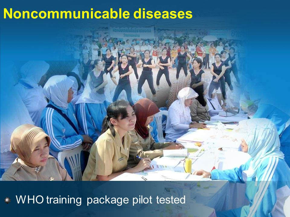 Noncommunicable diseases WHO training package pilot tested