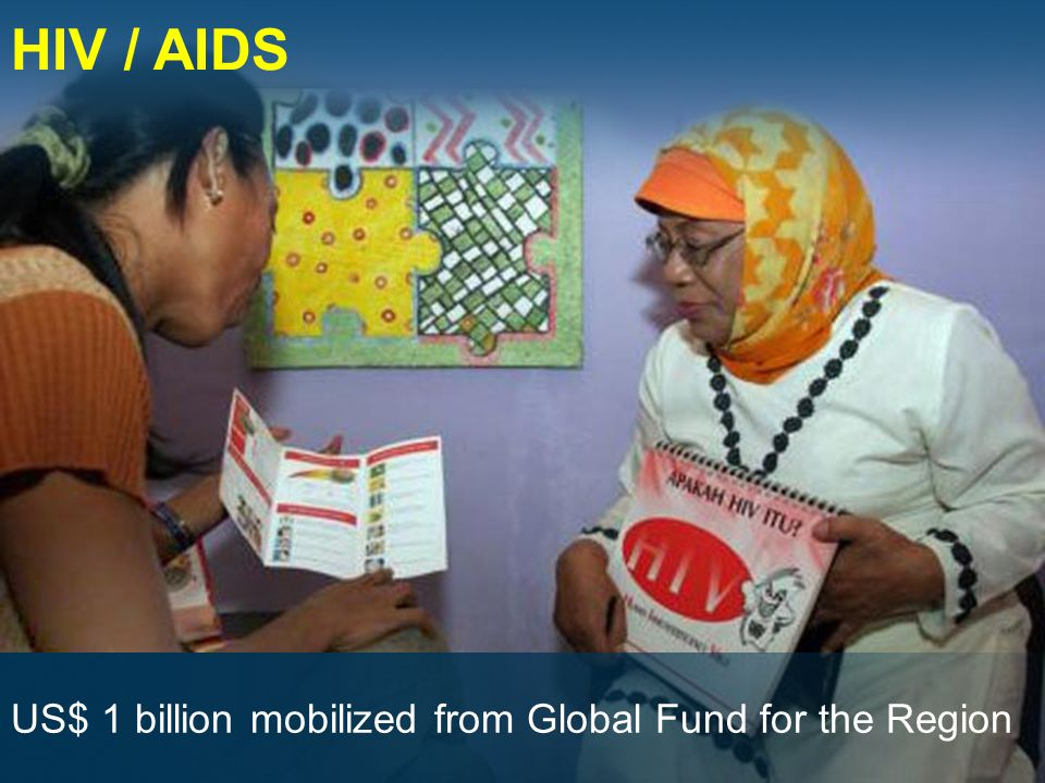 HIV / AIDS US$ 1 billion mobilized from Global Fund for the Region