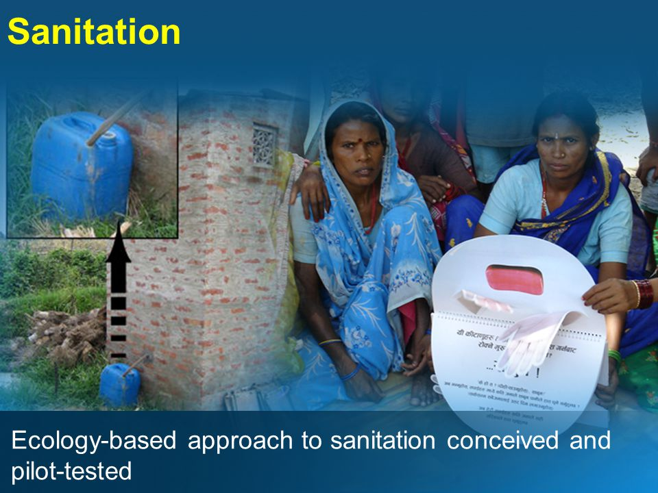 Sanitation Ecology-based approach to sanitation conceived and pilot-tested
