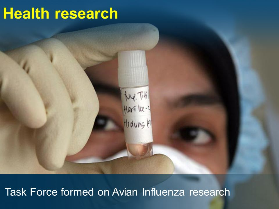 Task Force formed on Avian Influenza research Health research