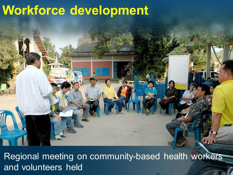 Workforce development Regional meeting on community-based health workers and volunteers held