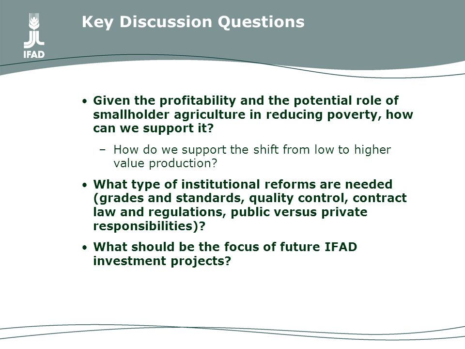 Given the profitability and the potential role of smallholder agriculture in reducing poverty, how can we support it.