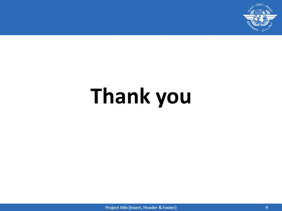 9 Thank you Project title (Insert, Header & Footer)