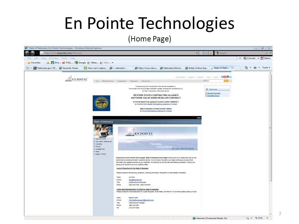 En Pointe Technologies (Home Page) 7