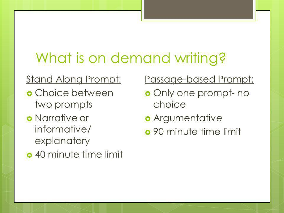 What is on demand writing.