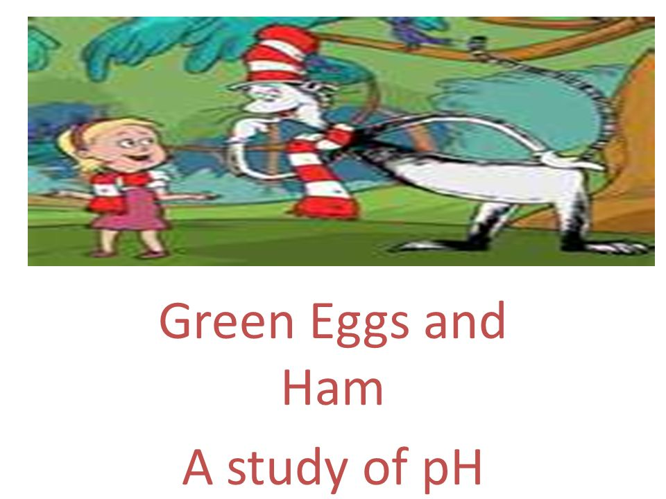 Green Eggs and Ham A study of pH