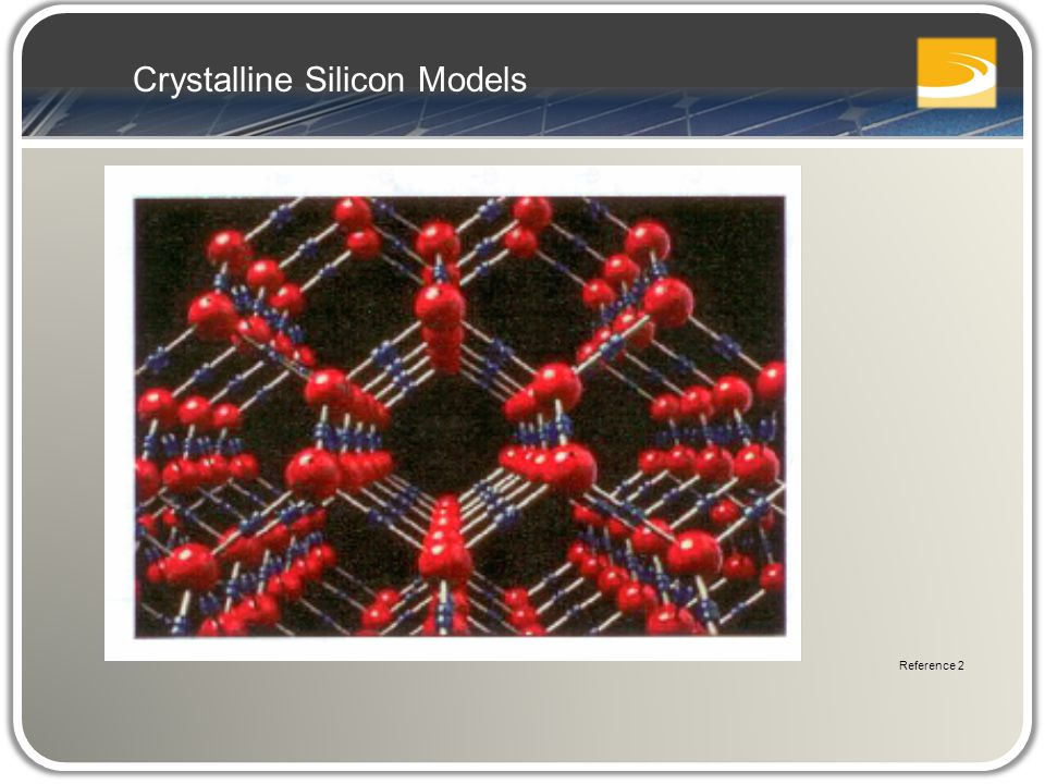 Crystalline Silicon Models Reference 2