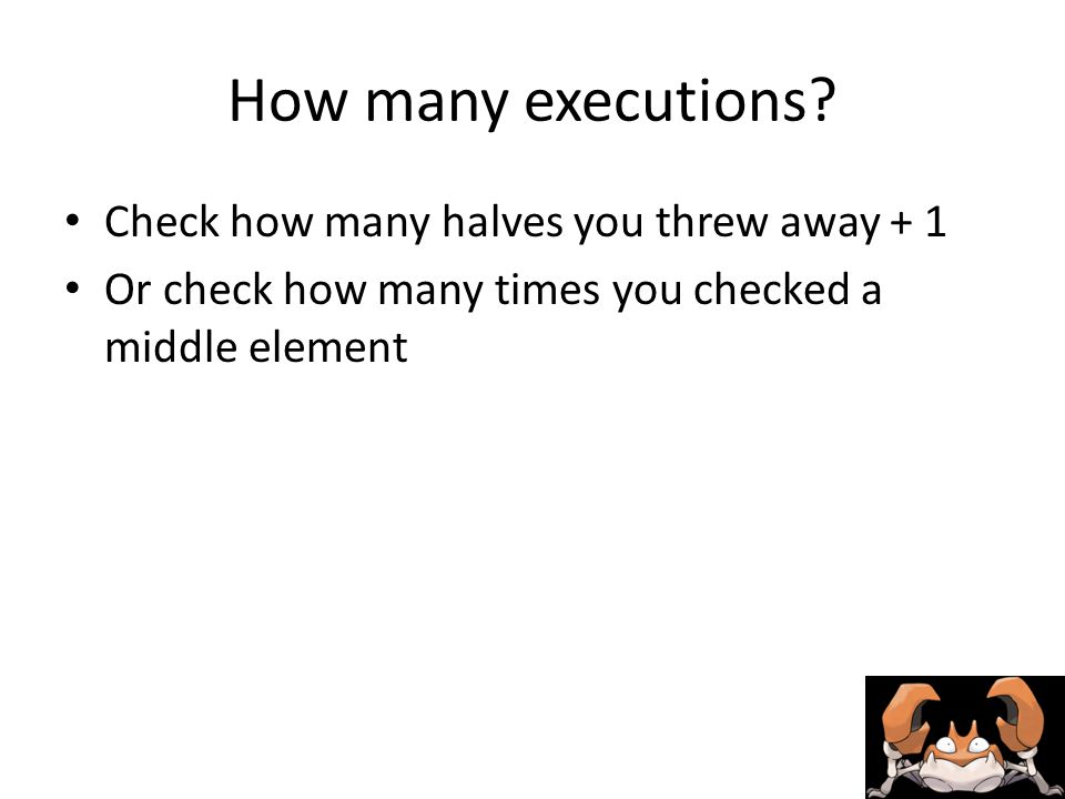 How many executions.