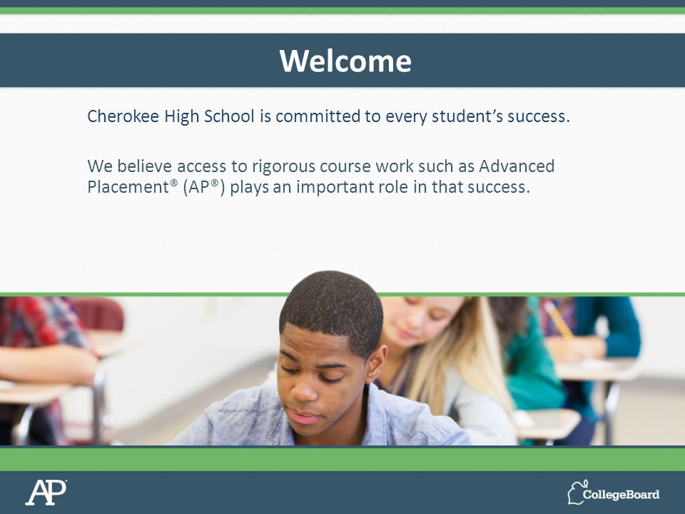 Cherokee High School is committed to every student's success.