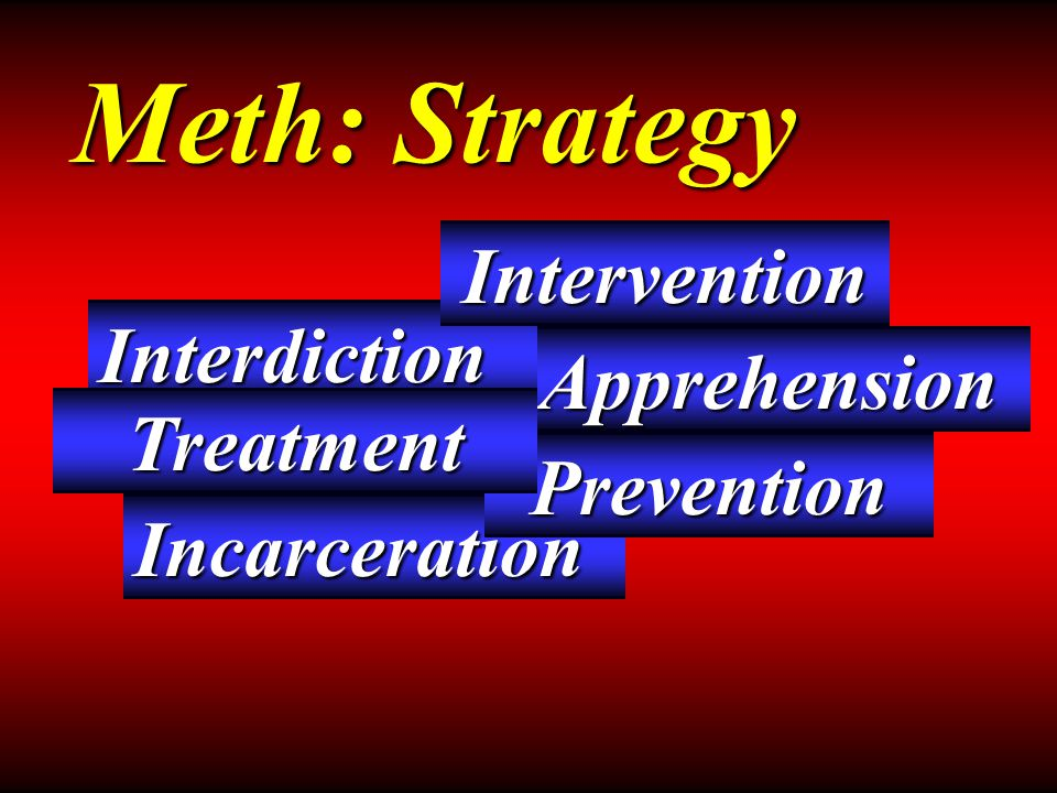 Apprehension Interdiction Incarceration Meth: Strategy Prevention Intervention Treatment