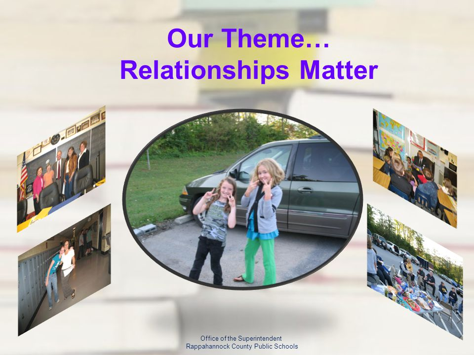 Our Theme… Relationships Matter Office of the Superintendent Rappahannock County Public Schools