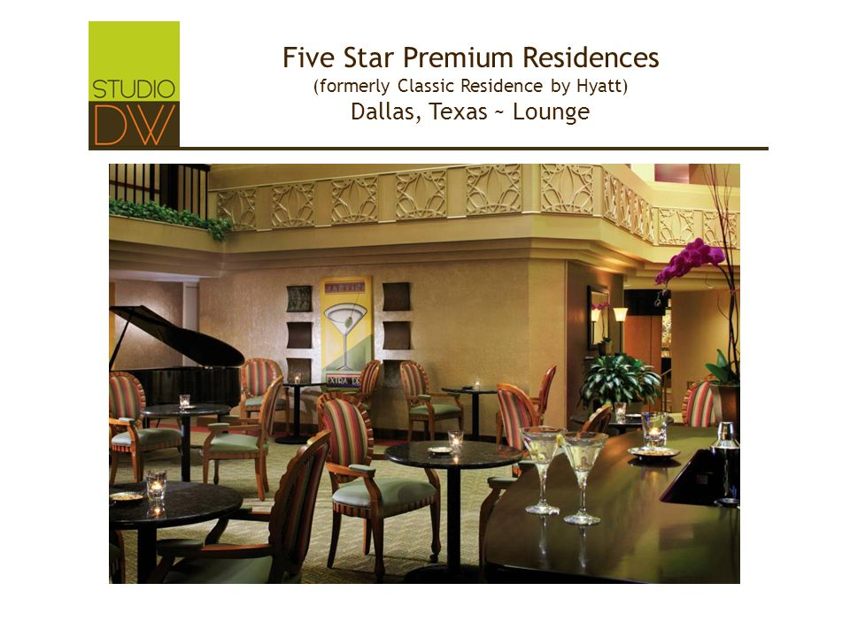 Five Star Premium Residences (formerly Classic Residence by Hyatt) Dallas, Texas ~ Lounge