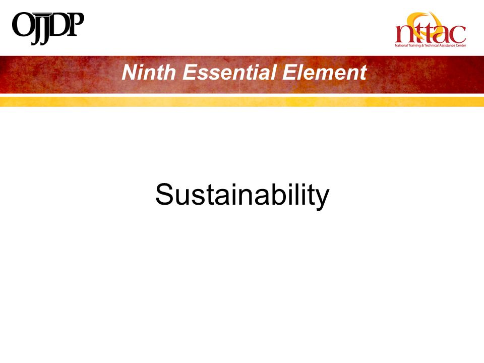 Ninth Essential Element Sustainability