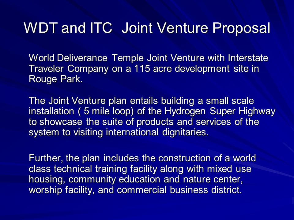 River Rouge Parkway Joint Venture WDT and ITC Bishop Roy D