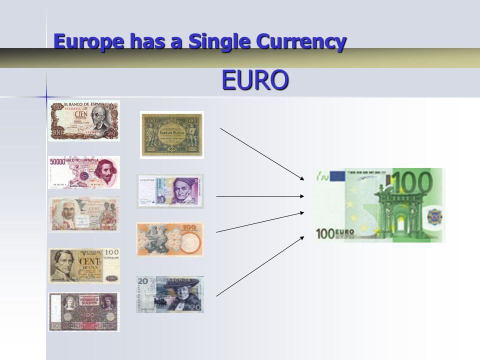 Europe has a Single Currency EURO