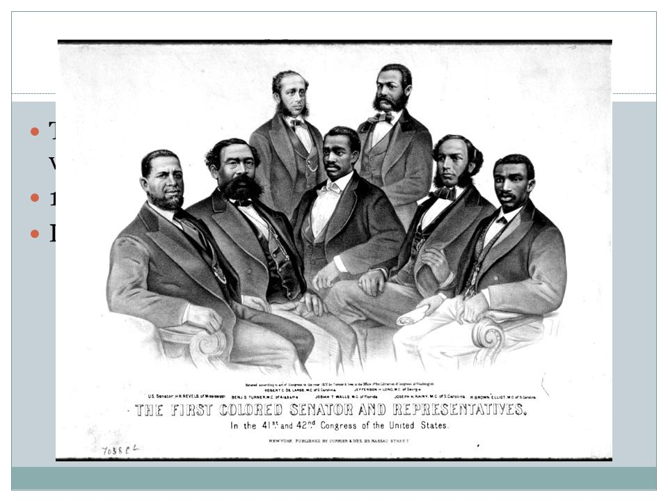 Republican Success. Their strength was tied to the number of freedmen voting.
