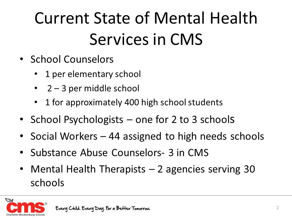 Enhancing Mental Health Services In Cms The School Based Mental