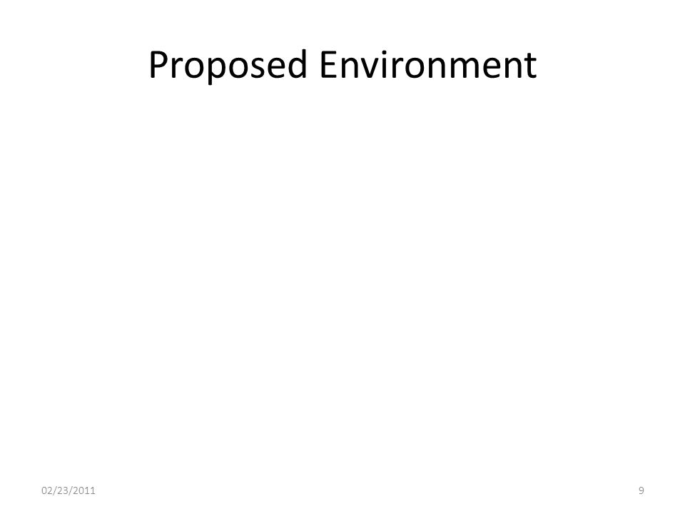 Proposed Environment 02/23/20119