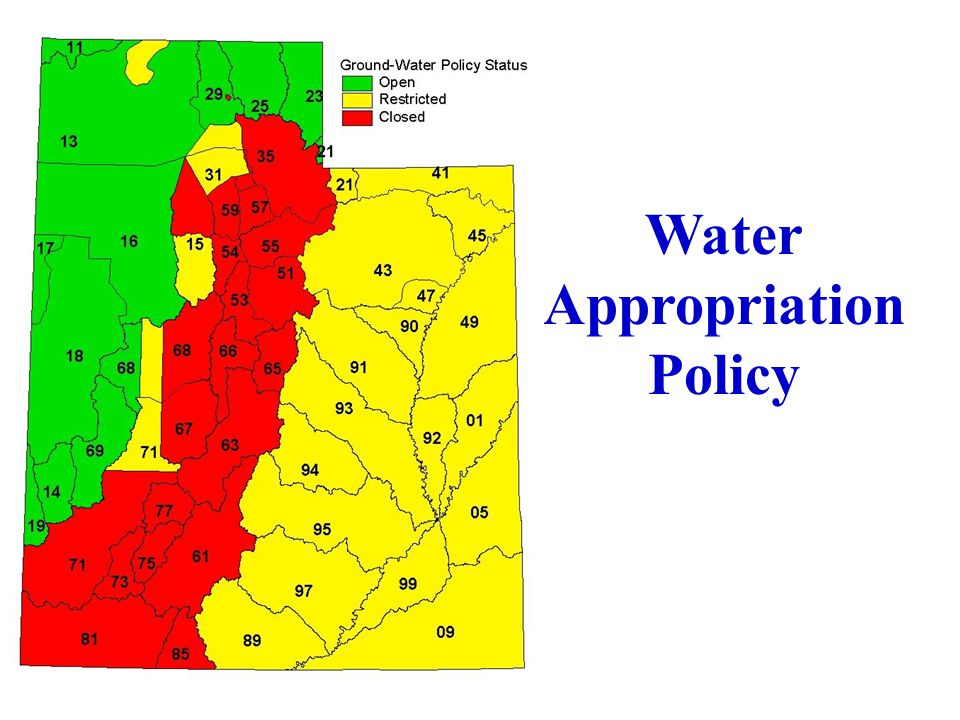 Water Appropriation Policy