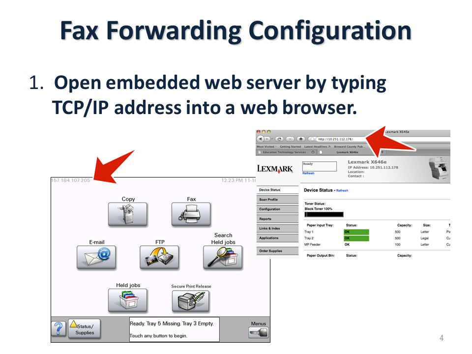 Fax Forwarding Configuration 1.