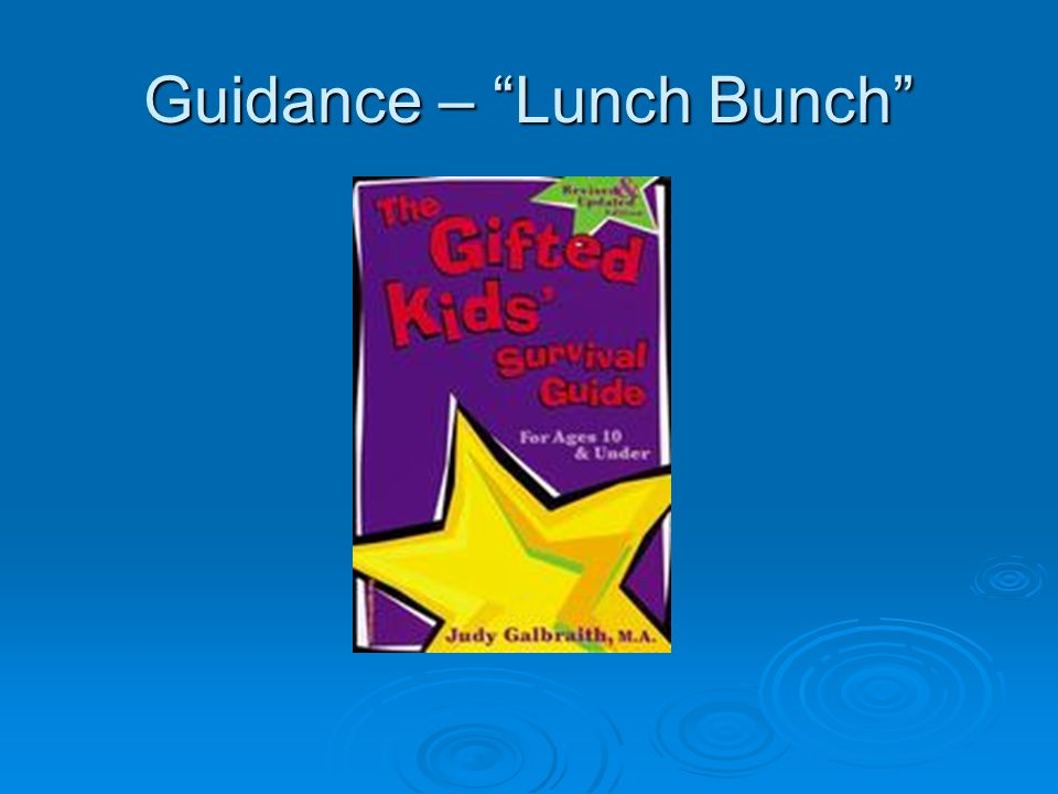 Guidance – Lunch Bunch