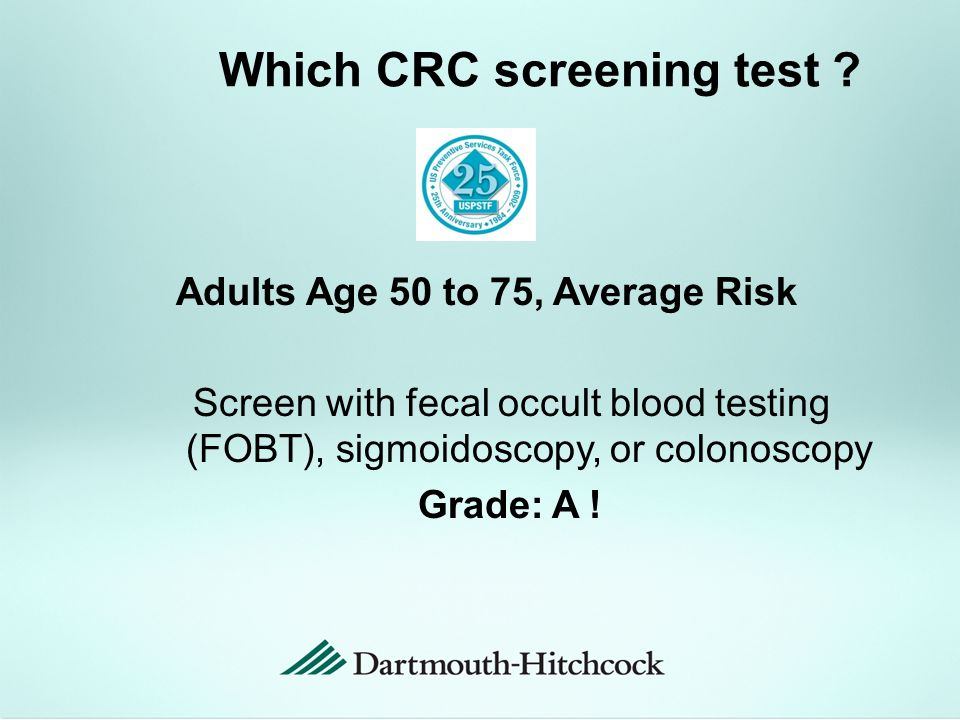Which CRC screening test .