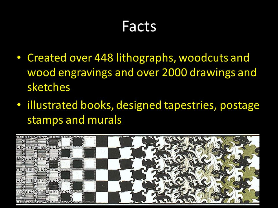 Facts Created over 448 lithographs, woodcuts and wood engravings and over 2000 drawings and sketches illustrated books, designed tapestries, postage stamps and murals