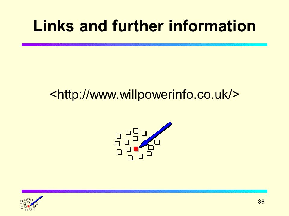 36 Links and further information