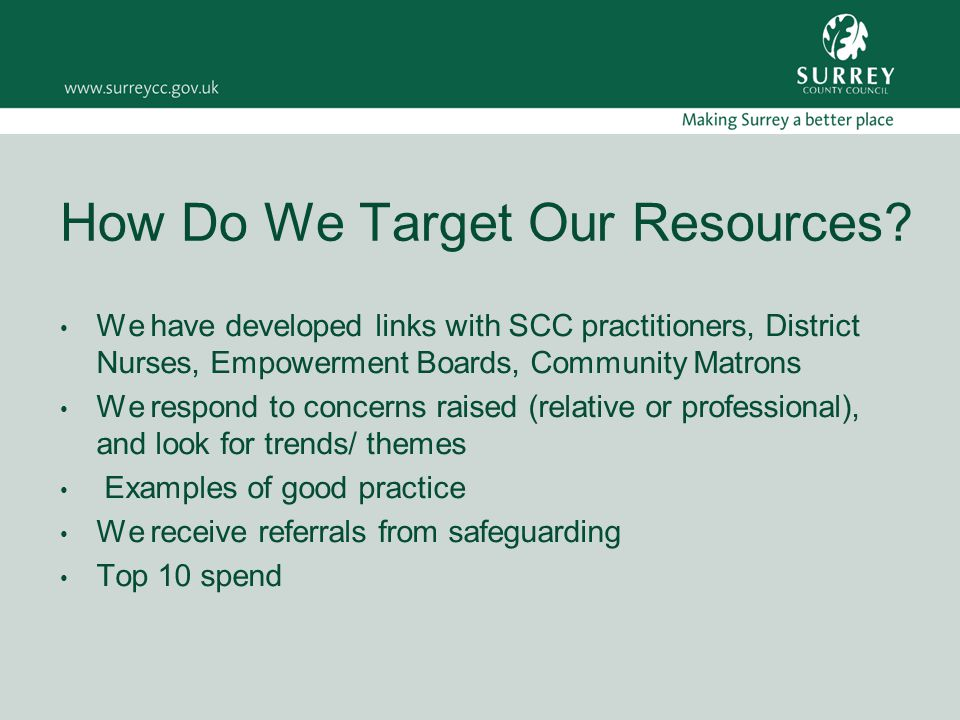 How Do We Target Our Resources.