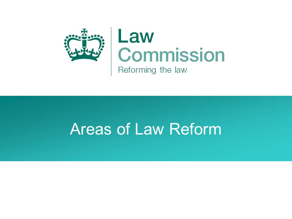 Areas of Law Reform