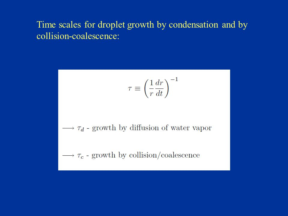 Time scales for droplet growth by condensation and by collision-coalescence: