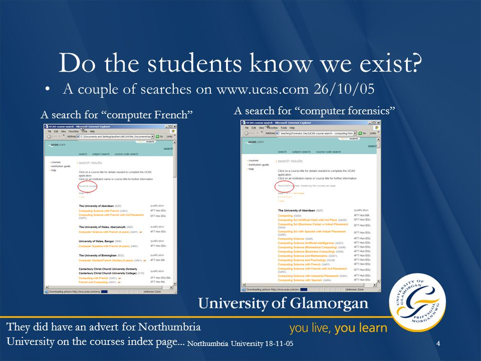 Northumbria University 18-11-054 Do the students know we exist.