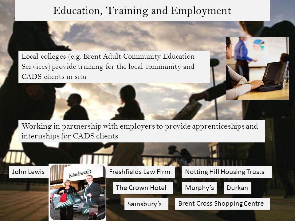 Education, Training and Employment Local colleges (e.g.