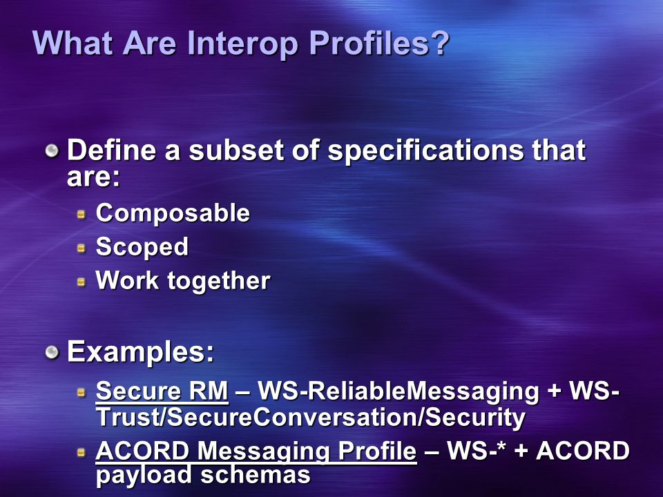 What Are Interop Profiles.