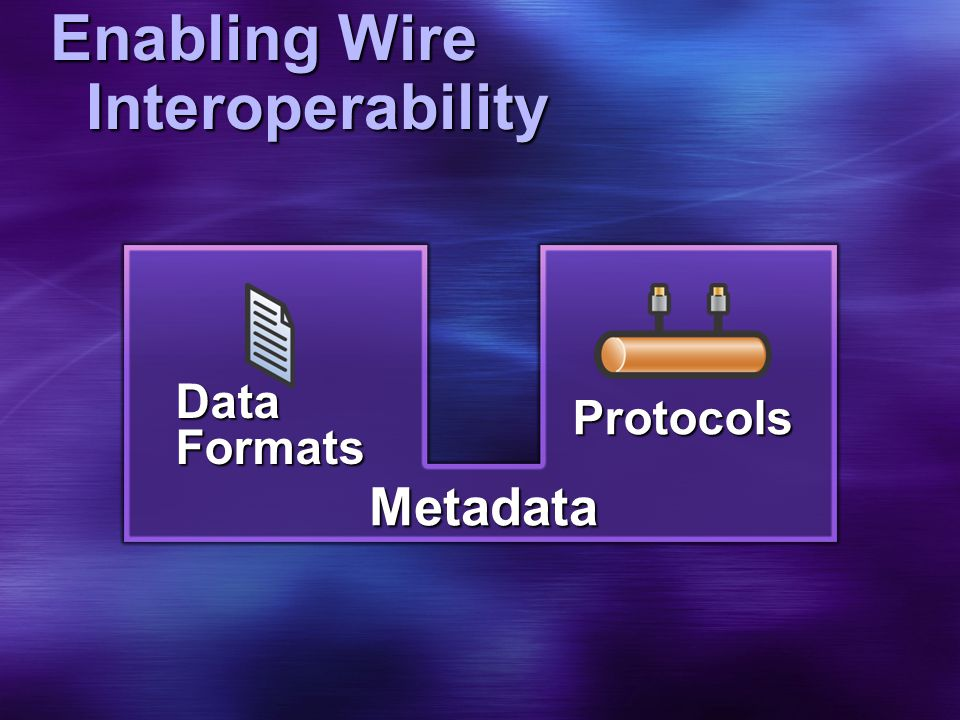 Enabling Wire Interoperability Metadata Data Formats Protocols