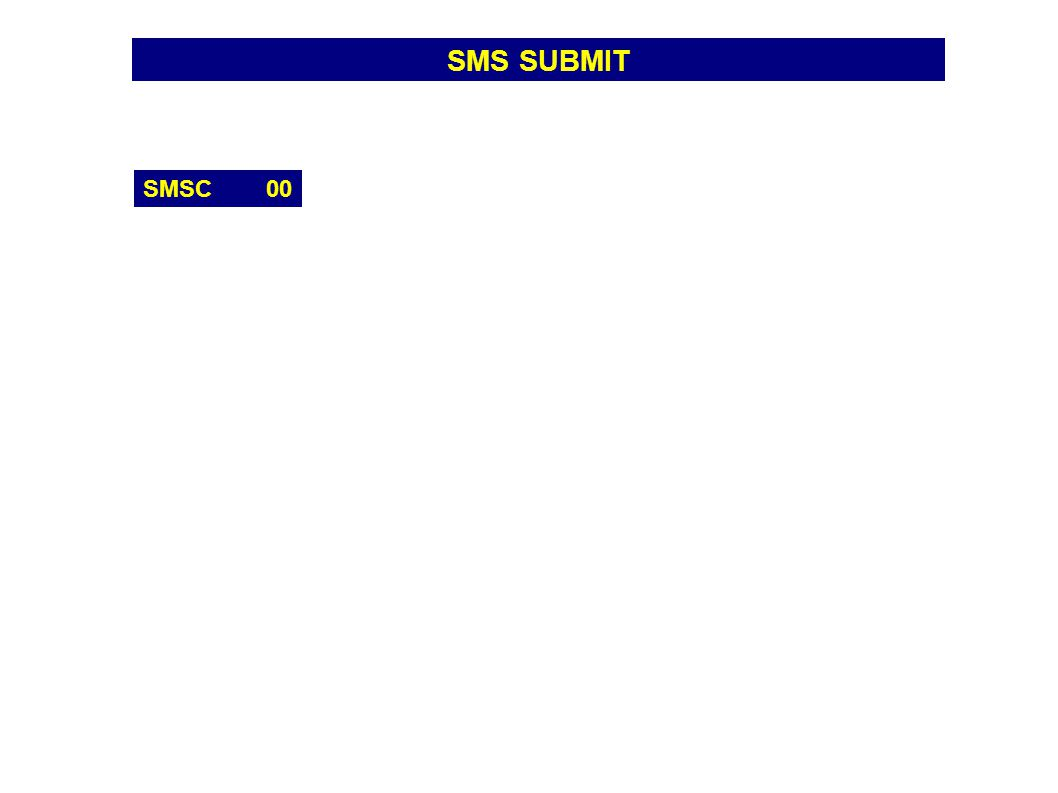SMS SUBMIT SMSC 00