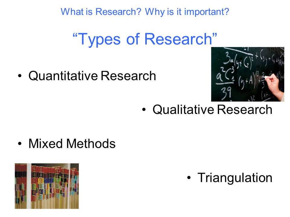 What is Research. Why is it important.