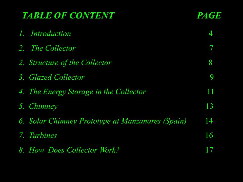 TABLE OF CONTENT PAGE 1.Introduction 4 2.The Collector 7 2.