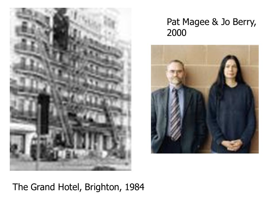 The Grand Hotel, Brighton, 1984 Pat Magee & Jo Berry, 2000