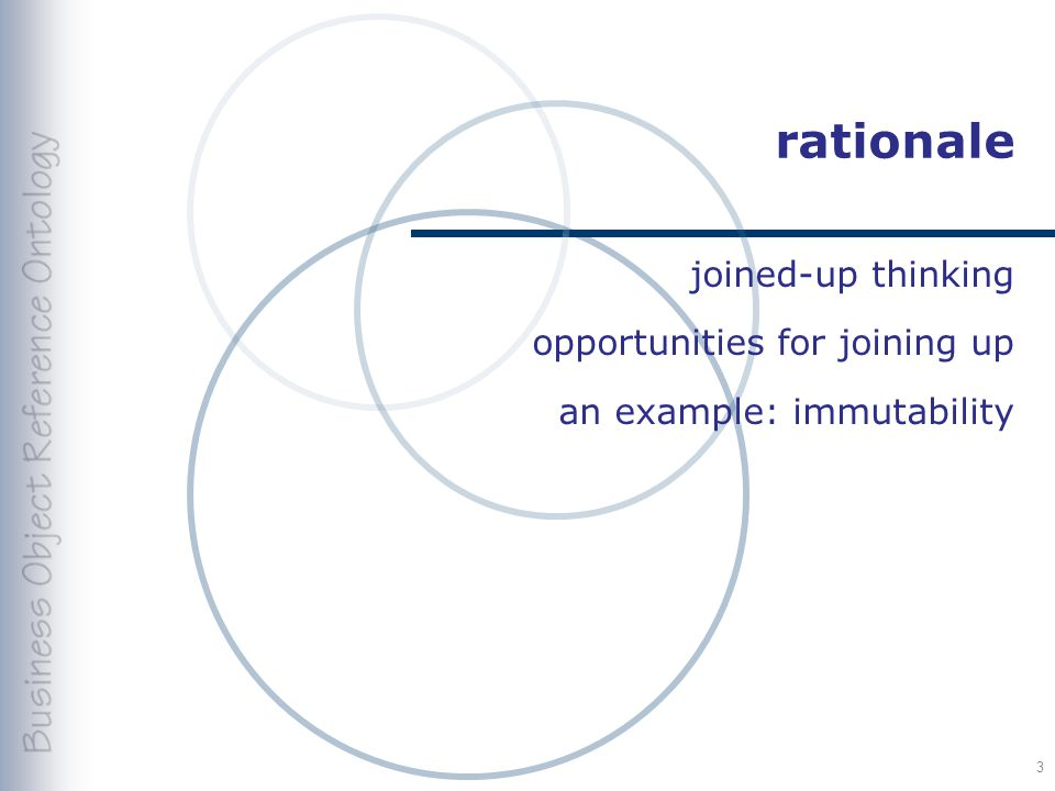 rationale joined-up thinking opportunities for joining up an example: immutability 3