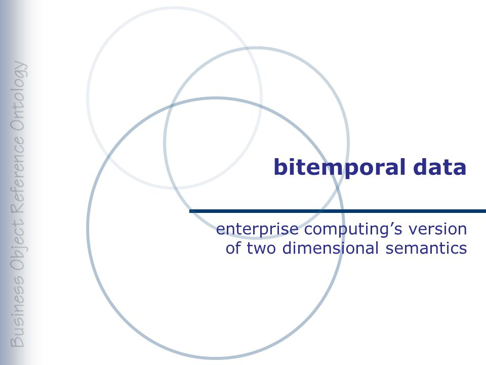 bitemporal data enterprise computing's version of two dimensional semantics