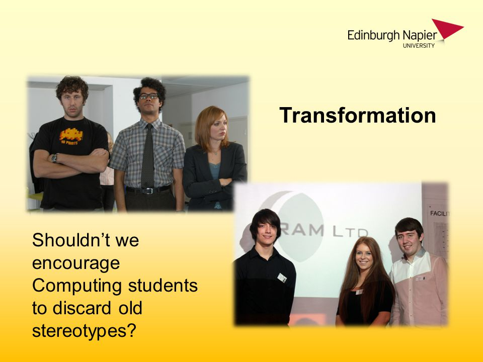 Shouldn't we encourage Computing students to discard old stereotypes Transformation