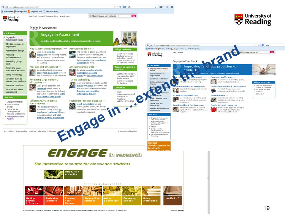 19 Engage in …extend the brand