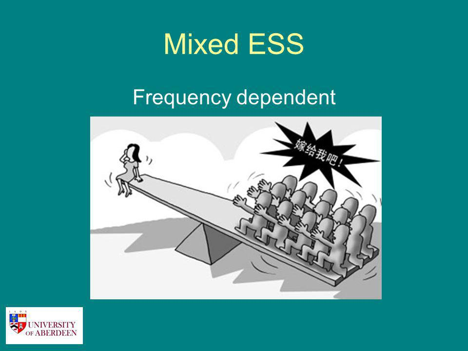 Mixed ESS Frequency dependent