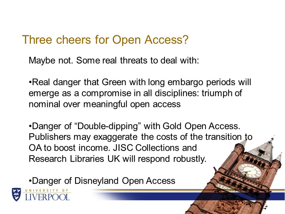 Three cheers for Open Access. Maybe not.