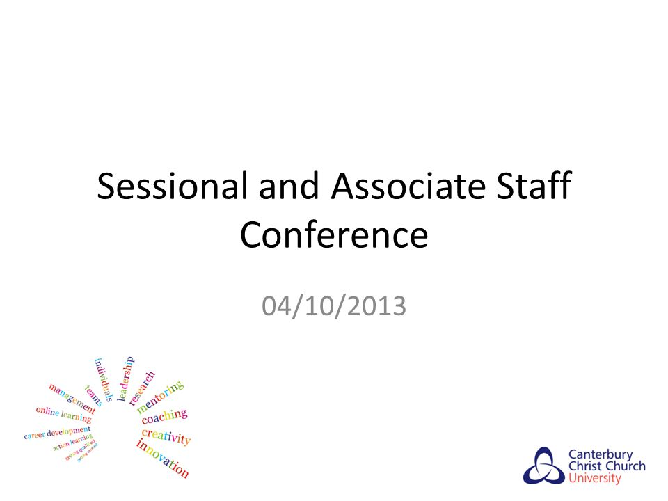 Sessional and Associate Staff Conference 04/10/2013